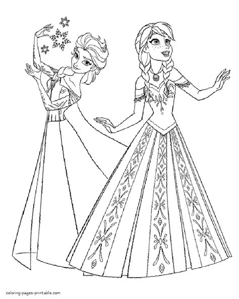 hd elsa  frozen coloring pages drawing