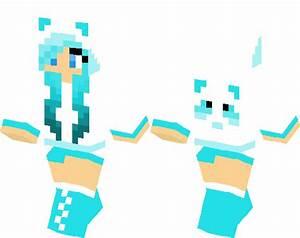 Blue Panda Girl Minecraft Skin Minecraft Hub