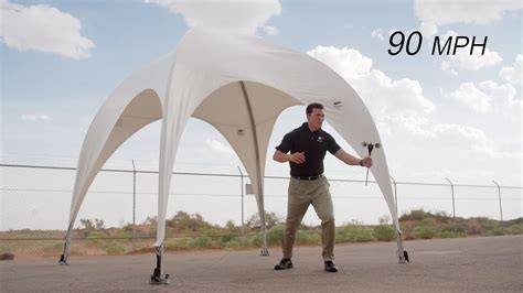 weatherport canopy  pop  canopy wind test youtube