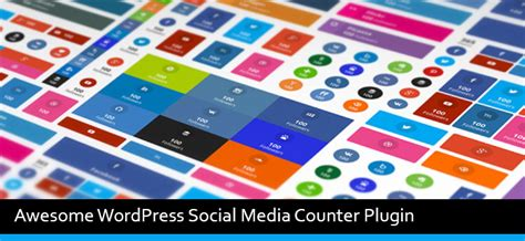 awesome wordpress social media counter plugin