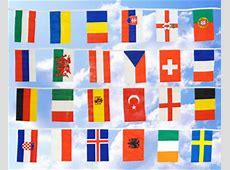 FlaggenKette groß 24 EM 2016Teilnehmerländer 14,9 m