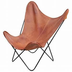 Butterfly Chair Original : mid century modern butterfly chair by knoll international in original leather at 1stdibs ~ Sanjose-hotels-ca.com Haus und Dekorationen