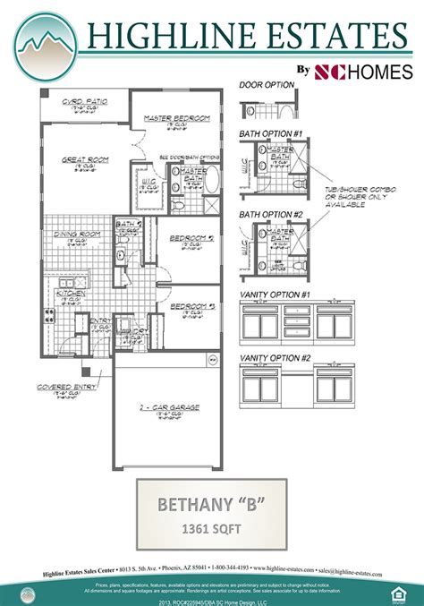 bethany  home floor plan phoenix arizona highline estates  sc homes