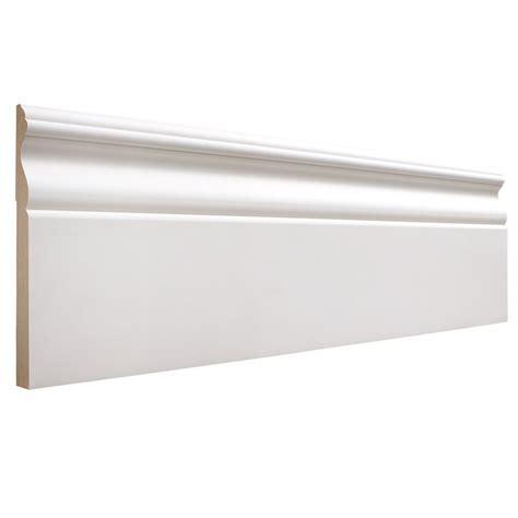 baseboards for sale 19 32 in x 5 1 4 in x 12 ft primed mdf base moulding pattern 8095 lowe s canada