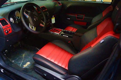 dodge challenger custom interior custom car leather interior seats mr kustom auto
