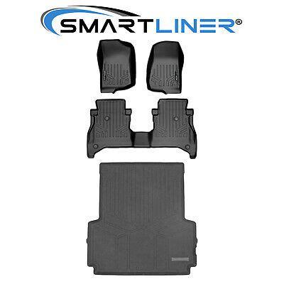 smartliner floor mats  rows  ft bed liner set black   jeep gladiator ebay