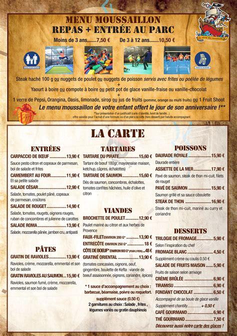 Carte De Menu Restaurant by Carte Restaurant La Table Des