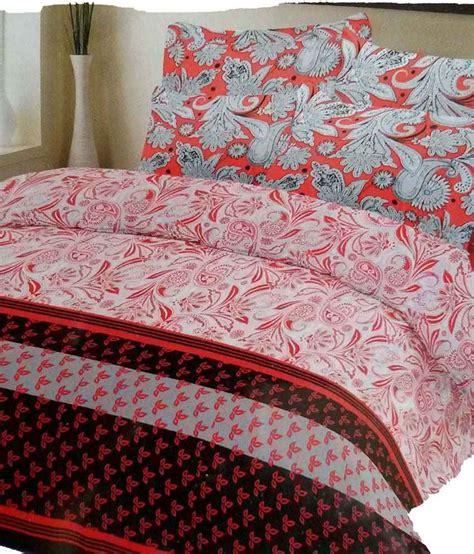 sleepwell multicolor cotton double bedsheet   pillow