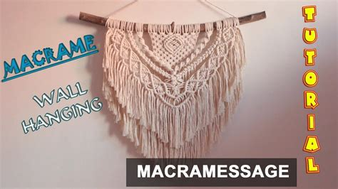 macrame wall hanging tutorial easy diy  macrame