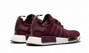 Hot Selling Adidas NMD R1 Runner Suede W Burgundy Maroon Solid Grey S75231 Women's Men's Casual