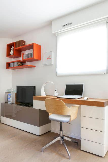 coin bureau dans salle à manger grande pièce à vivre avec bureau salon salle à manger