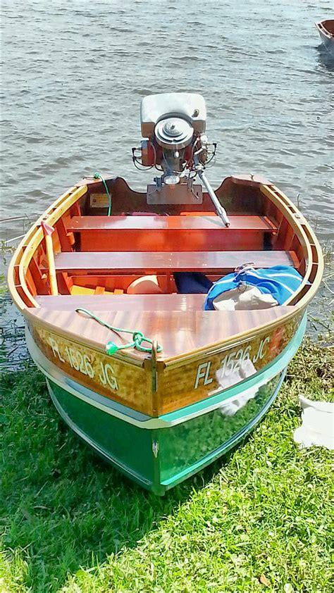 stauter built boat  sunnyland wooden boat show