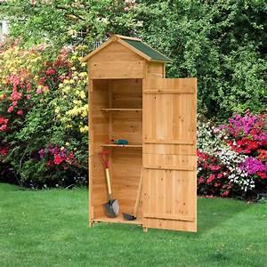 Meuble De Rangement Exterieur : meuble armoire de jardin rangement outils ext rieur en bois 190 x 79 x 49 cm ~ Teatrodelosmanantiales.com Idées de Décoration