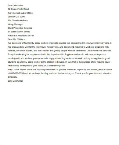 cover letter for family service worker 28 images cover letter for family service worker 28 images