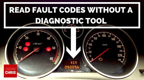 vauxhall vectra vxr how to read fault codes without a diagnostic tool astra