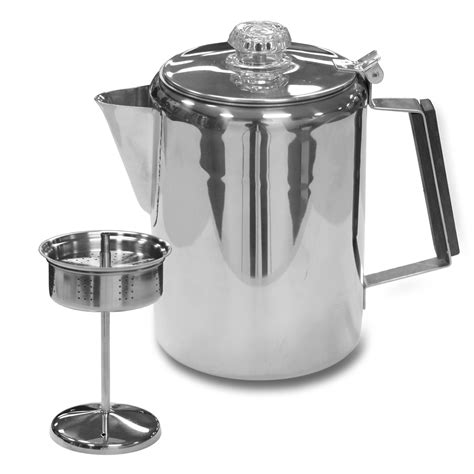 stansport stainless steel percolator coffee pot reviews