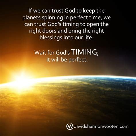 timing   wait    time david