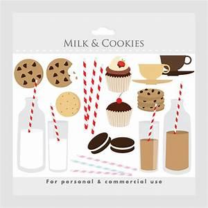 Milk And Cookies Sweets Clipart - Clip Art Milk, Biscuits ...