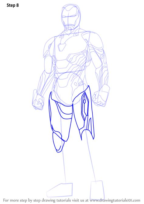 learn   draw iron man  avengers infinity war