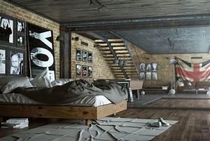 chambre ado style industriel chaioscom With chambre style loft industriel