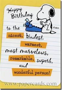 Peanuts Birthday Quotes. QuotesGram