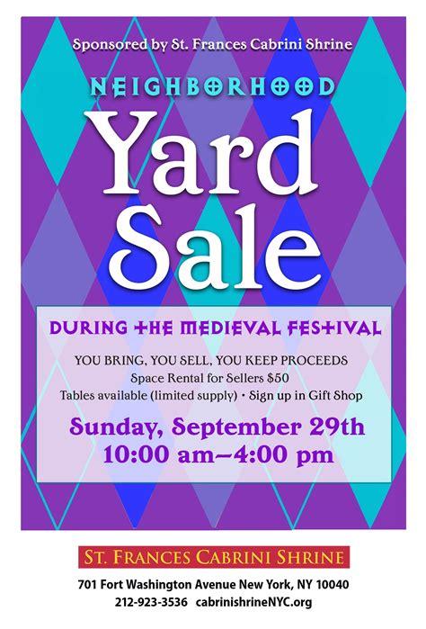 Yard Sale - Cabrini Shrine NYC