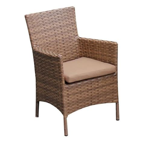 tkc laguna wicker patio arm dining chairs in wheat set of