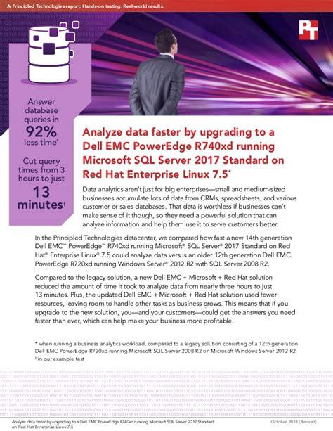 analyze data faster  upgrading   dell emc poweredge