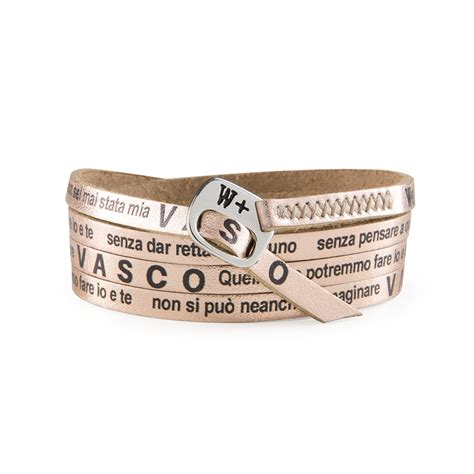 Le Più Frasi Di Vasco by Leather Bracelets Made In Italy We Positive