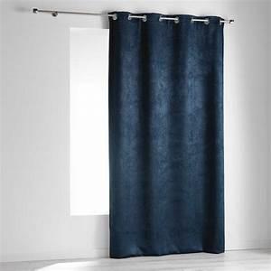 Rideau Gris Bleu : rideau occultant 140 x 240 cm dreamtime bleu indigo rideau occultant eminza ~ Teatrodelosmanantiales.com Idées de Décoration