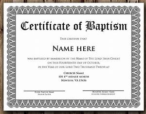 14 baptism certificate templates samples examples With publisher certificate templates free download