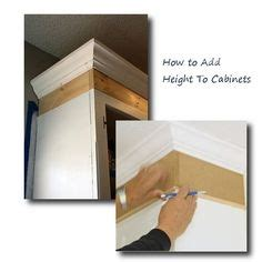 how to add height to kitchen cabinets oak cabinets w white island home organization 9281
