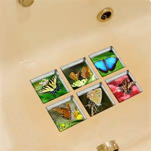 Remove Bathtub Non Slip Decals by Pag 6pcs 13x13cm Butterfly Pattern 3d Anti Slip Waterproof