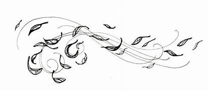 Wind Blowing Leaves Tattoo Drawing Clip Tattoos