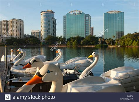 Paddle Boats Orlando Florida by Lake Eola Park Florida Stock Photos Lake Eola Park