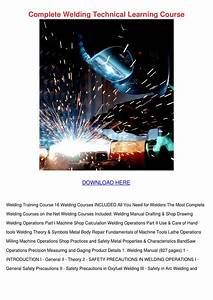 Complete Welding Technical Learning Course By