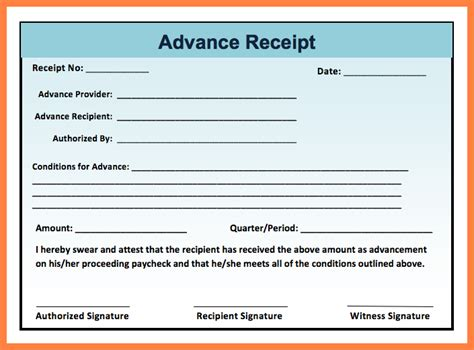 cash receiving slip format salary slip