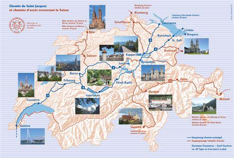 Chemin De St Jacques De Compostelle Carte Suisse jacques de compostelle en suisse d 233 couvrir le