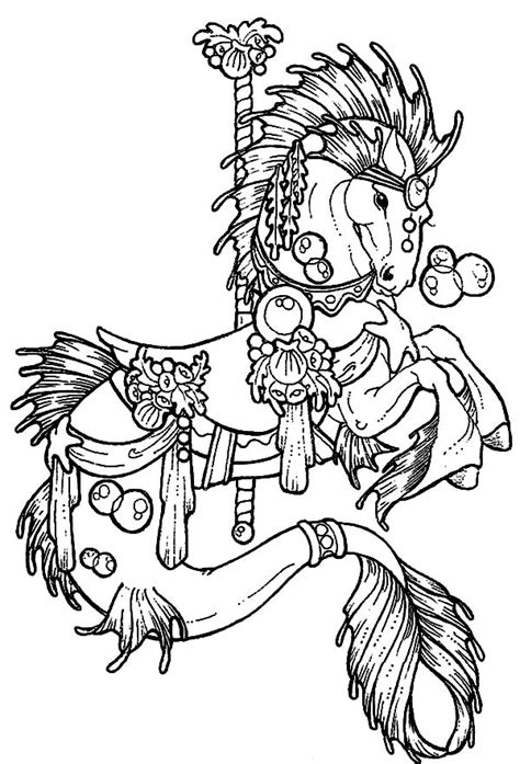 carousel horse coloring pages  kids  place  color