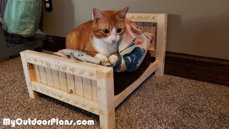 diy farmhouse cat bed myoutdoorplans  woodworking