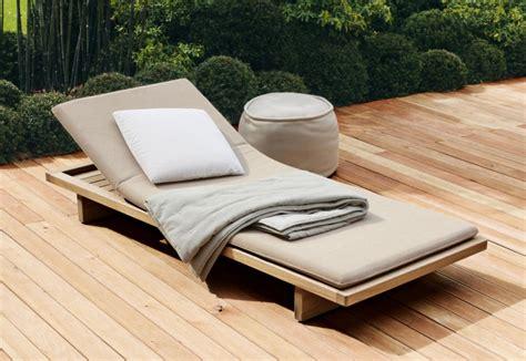 chaise longue teck sabi sunbed by lenti stylepark