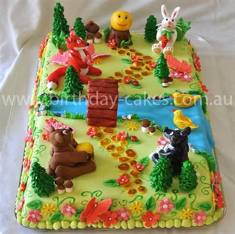 Forest Animal Cake