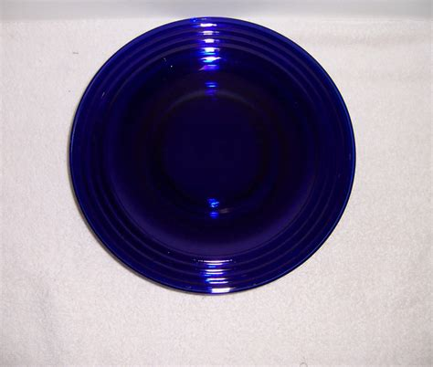 cobalt blue glass l triple a resale four cobalt blue glass ribbed dinner