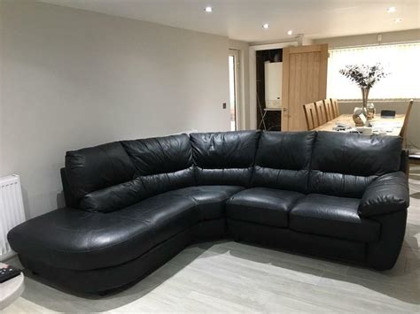 Dfs Corner Couches by Dfs Genuine Leather Corner Sofa In Swindon Wiltshire