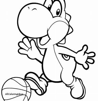 Mario Coloring Characters Pages Bowser Jr Yoshi