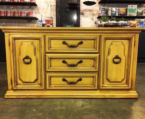 Dresser Decked in Somerset Gold & Van Dyke Brown Glaze