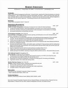 Sample Chronological Resume Format Resume Formats