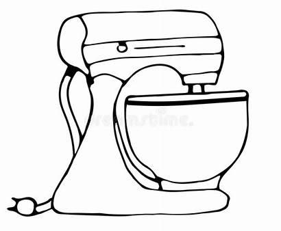Mixer Kitchen Scarabocchio Cucina Tekening Doodle Pictogram
