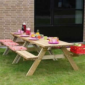 Bois Autoclave Classe 4 : table pique nique 300 cm xxl en bois autoclave classe 4 ~ Premium-room.com Idées de Décoration