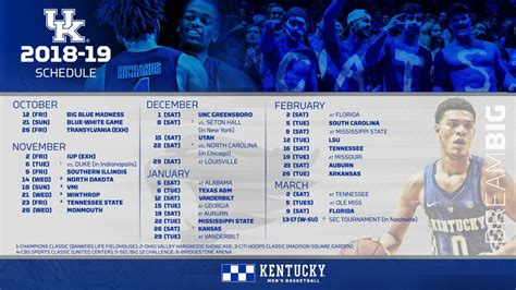 kentucky wildcats basketball   schedule channels